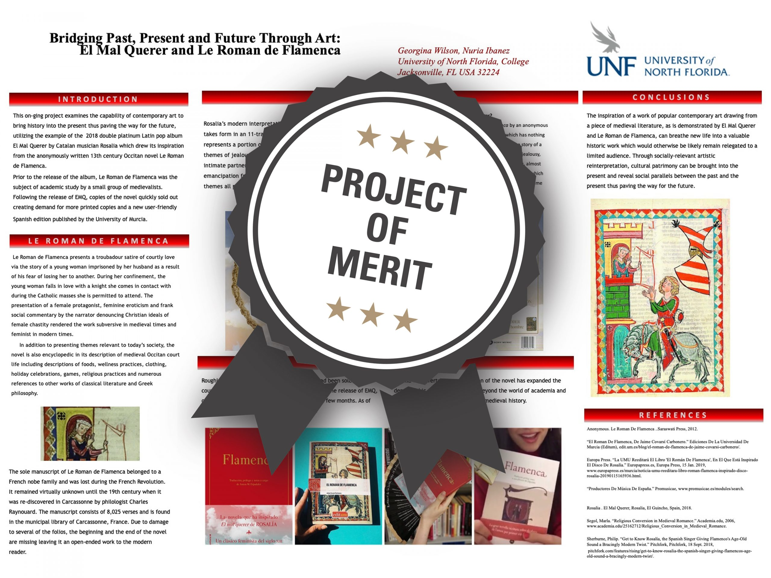 Bridging Past, Present and Future through Art: El Mal Querer and Le Roman de Flamenca Project of Merit poster