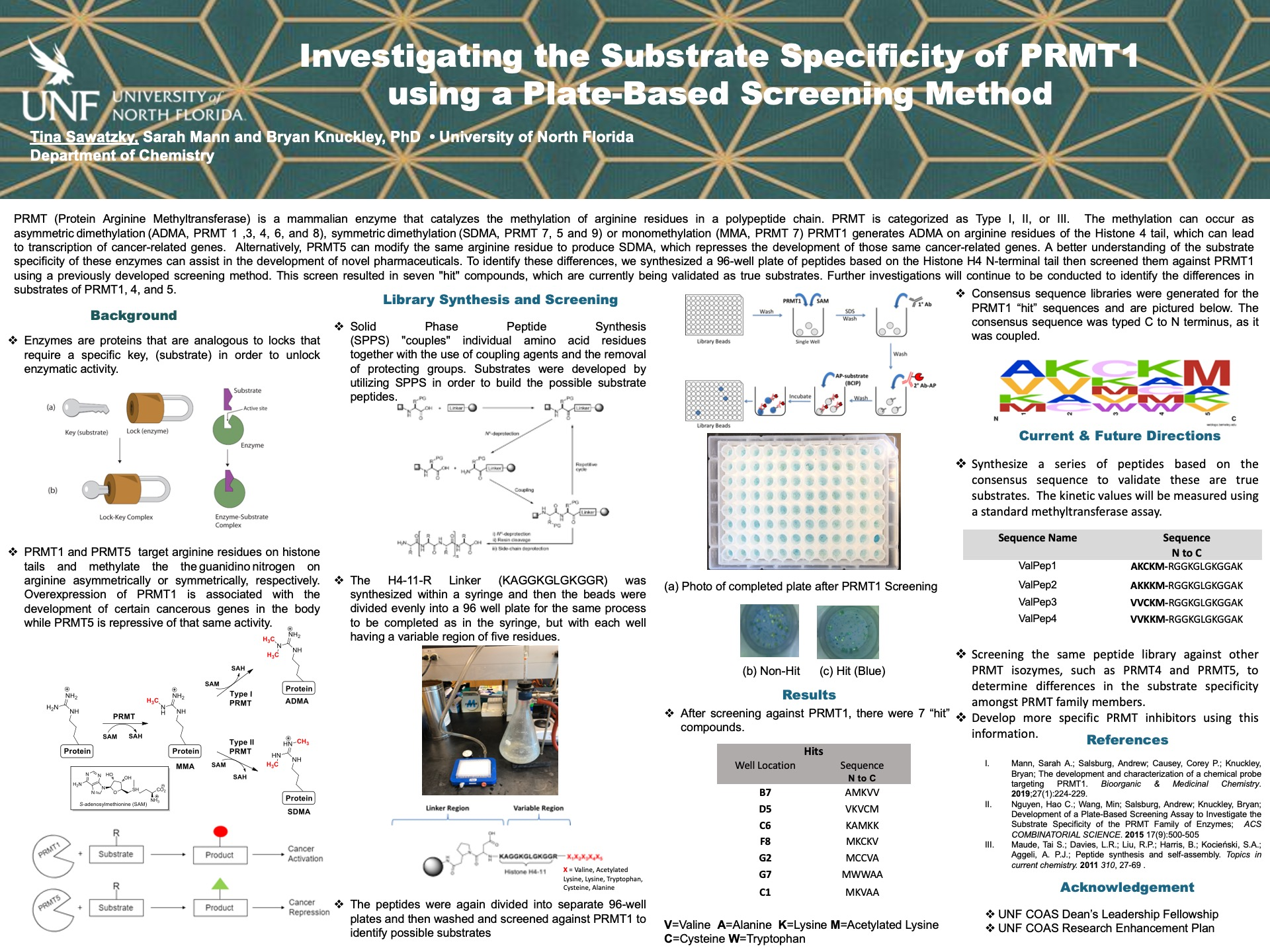 Investigating the Substrate Specificity of PRMT1 using a Plate-Based Screening Method poster