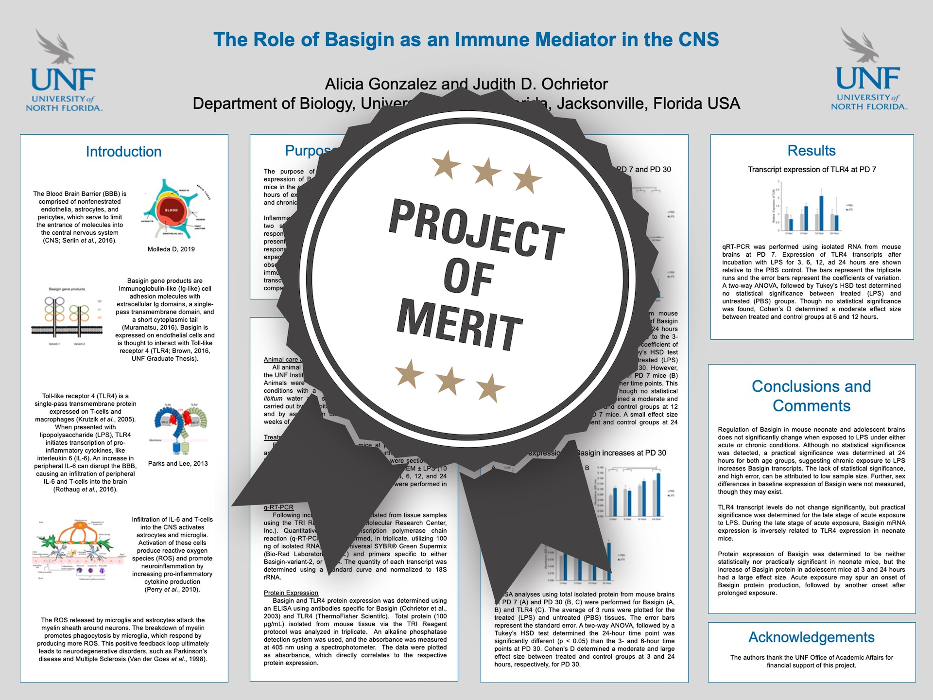 The Role of Basigin as an Immune Mediator in the CNS Project of Merit poster
