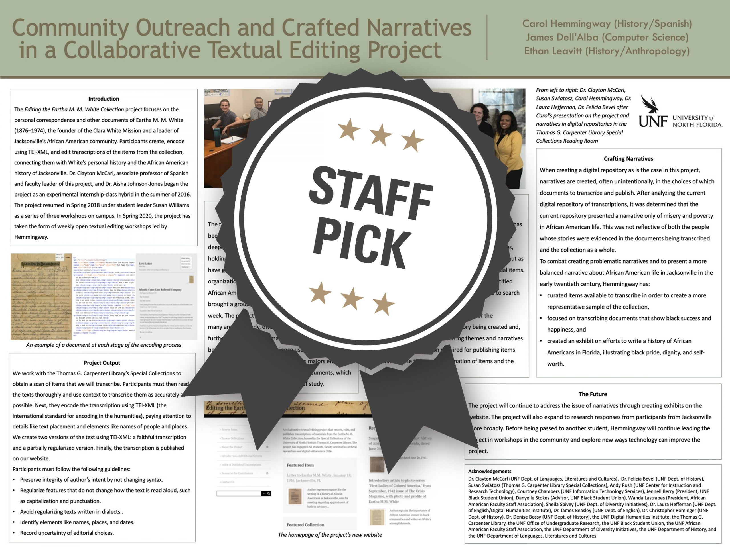 Community Outreach and Crafted Narratives in a Collaborative Textual Editing Project Staff Pick poster