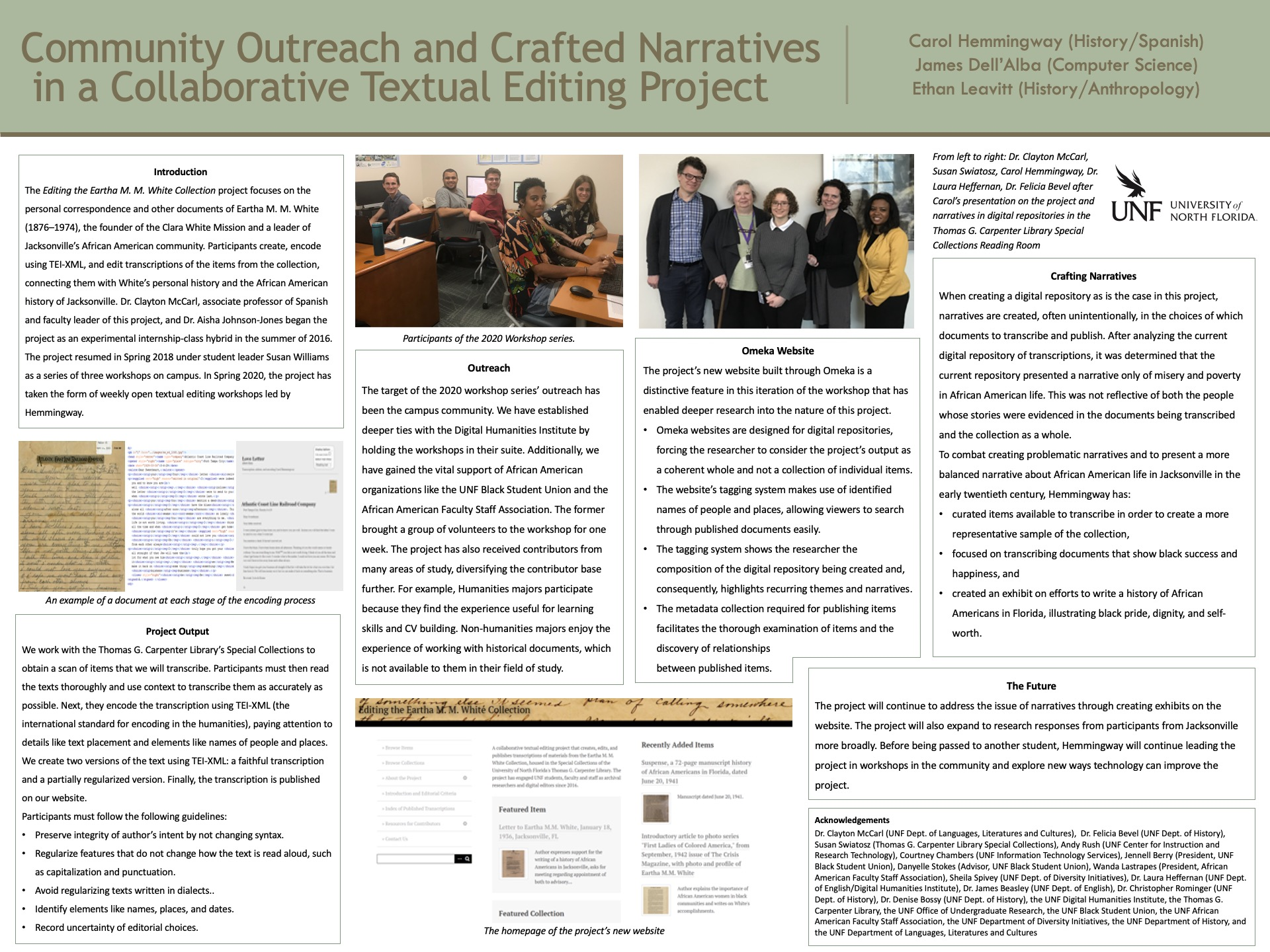 Community Outreach and Crafted Narratives in a Collaborative Textual Editing Project poster
