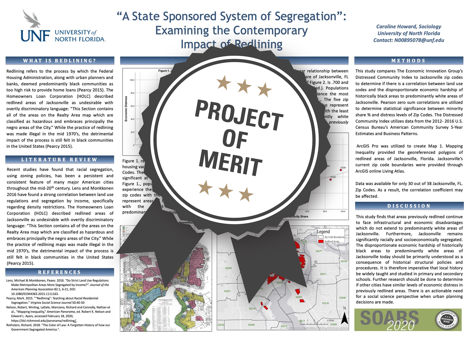 """A State Sponsored System of Segregation"": Examining the Contemporary Impact of Redlining Project of Merit poster"