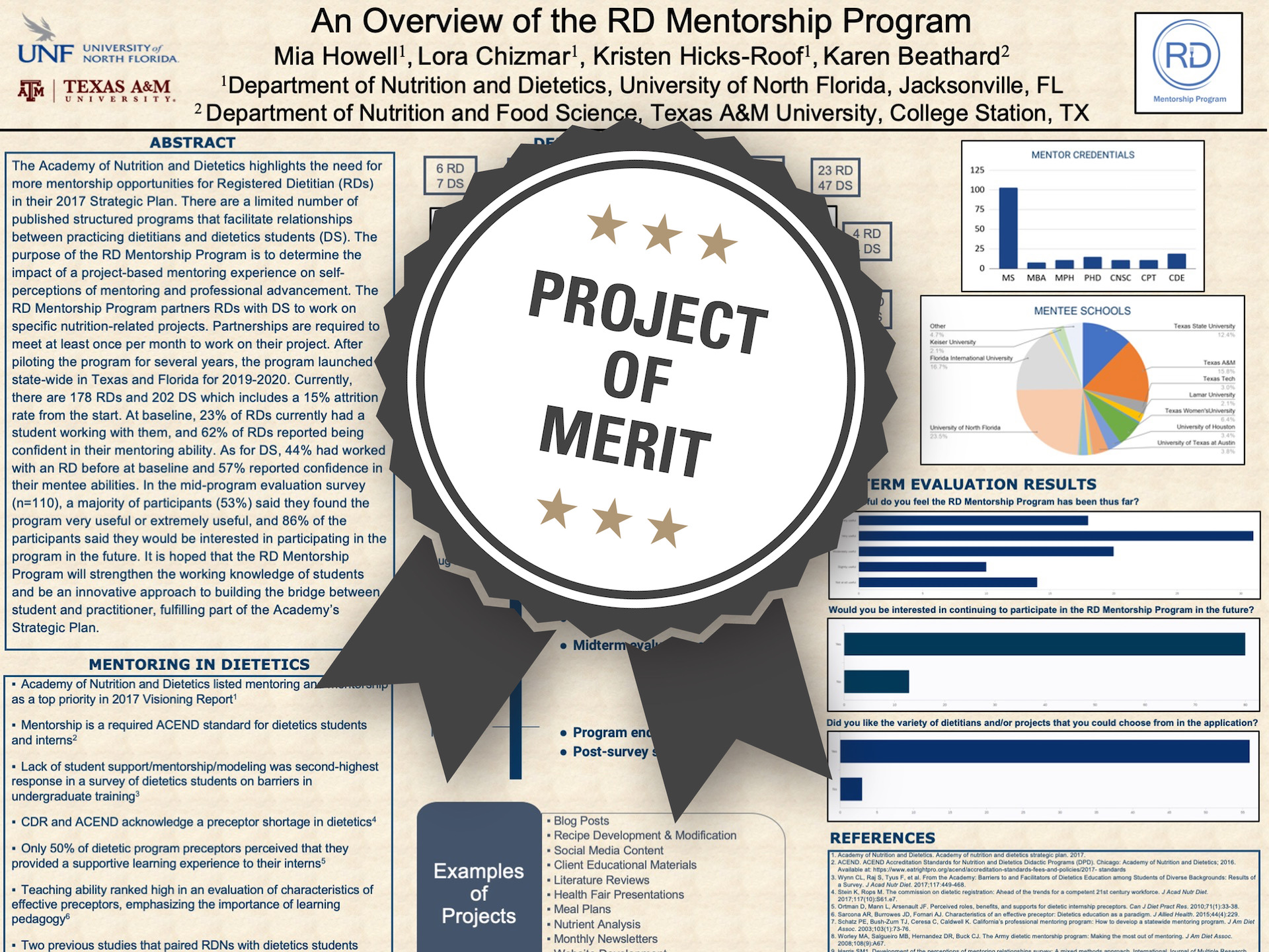 An Overview of the RD Mentorship Program Project of Merit poster