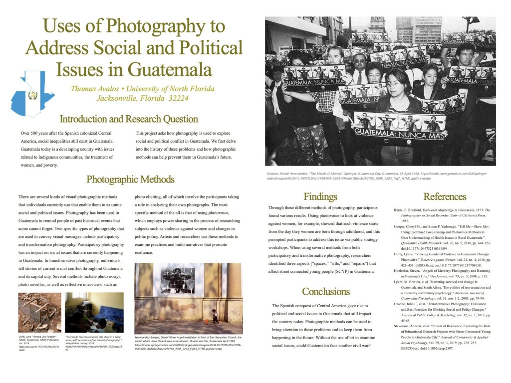 Uses of Photography to Address Social and Political Issues in Guatemala poster