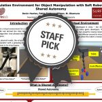 Simulation Environment for Object Manipulation with Soft Robots in Shared Autonomy Staff Pick poster