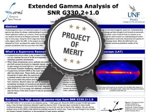 Extended Gamma Analysis of SNR G330.2+1.0 Project of Merit poster