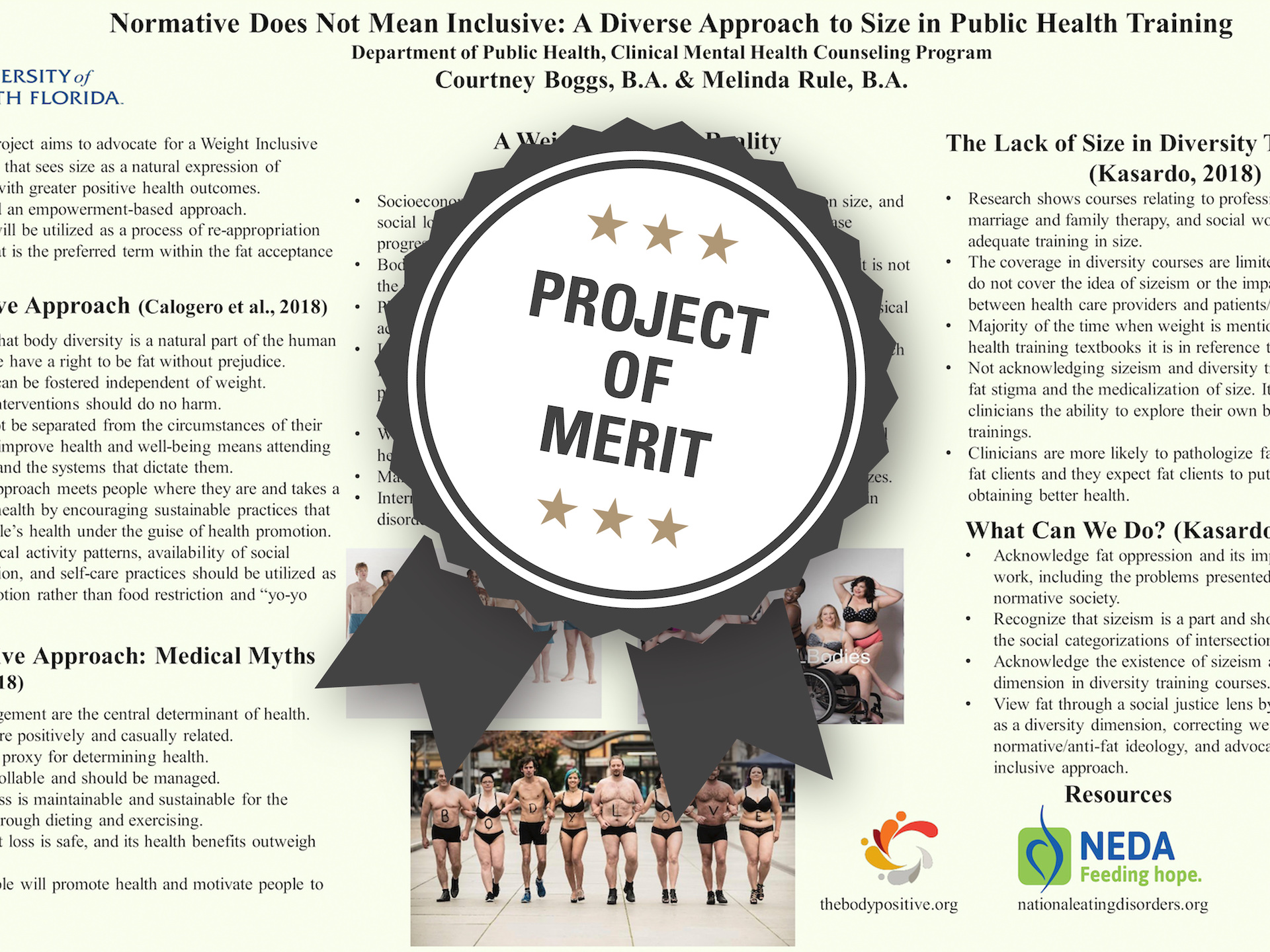 Normative Does Not Mean Inclusive: A Diverse Approach to Size in Public Health Training​ Project of Merit poster