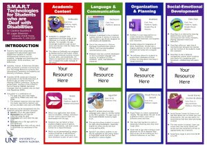 S.M.A.R.T Technologies for Students who are Deaf with Disabilities poster