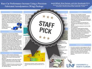 Race Car Performance Increase Using a Precision-Fabricated Aerodynamics (Wing) Package Staff Pick poster