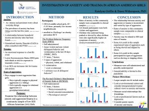 Investigation of anxiety and trauma in african american girls poster