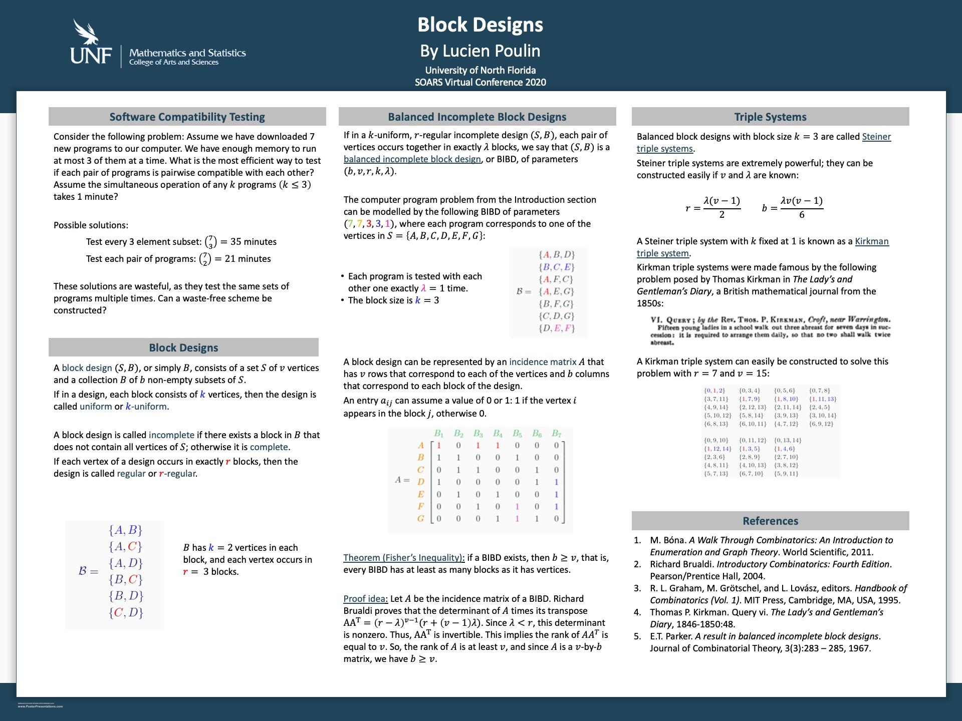 Block Designs poster