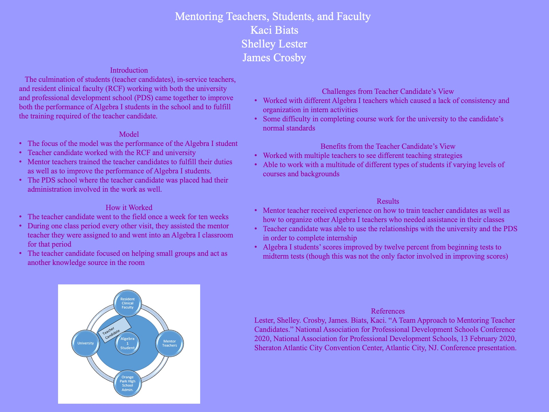 Mentoring Teachers, Students, and Faculty poster