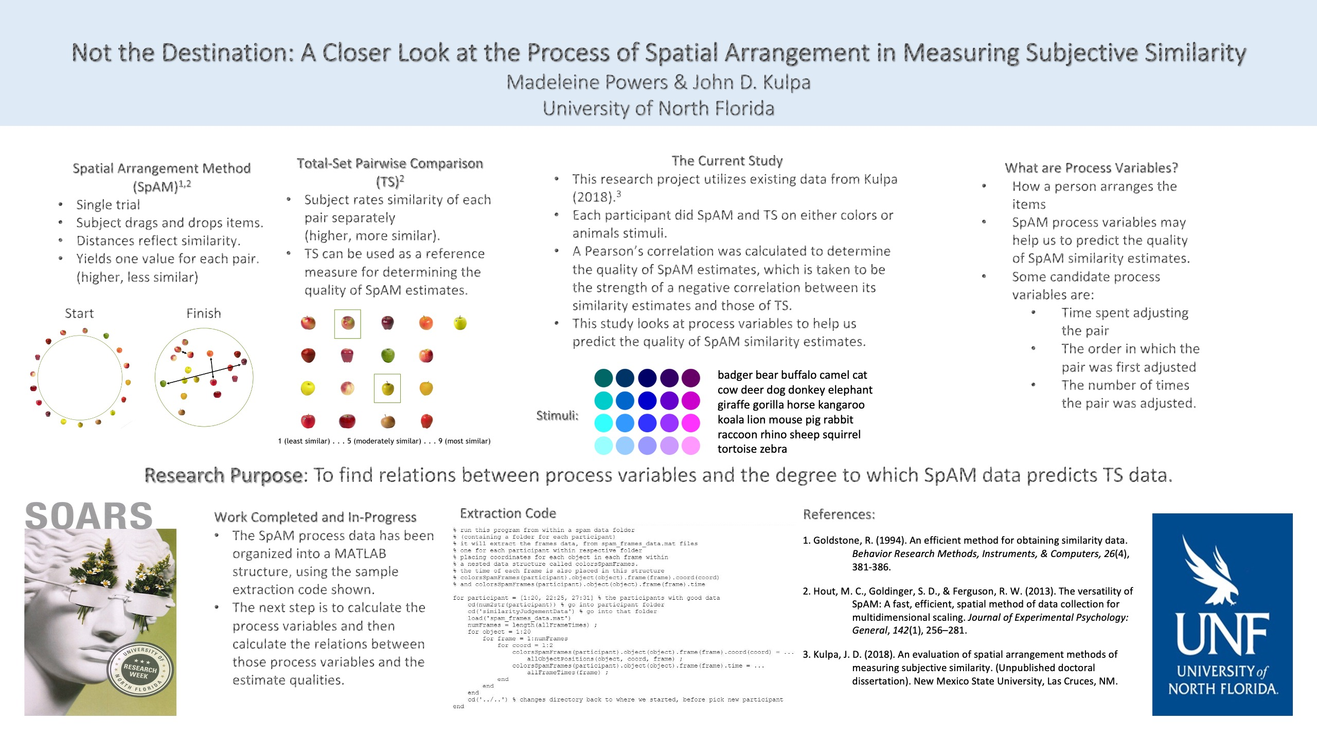 Not the Destination: A Closer Look at the Process of Spatial Arrangement in Measuring Subjective Similarity poster