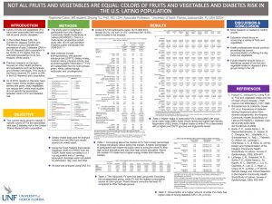 Not all fruits and vegetables are equal: colors of fruits and vegetables and diabetes risk in the U.S. Latino population poster