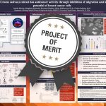Saffron (Crocus sativus) extract has anticancer activity through inhibition of migration and invasion potential of breast cancer cells Project of Merit poster