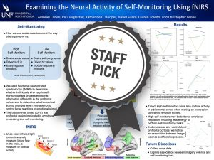 Examining the Neural Activity of Self-Monitoring Using fNIRS Staff Pick poster