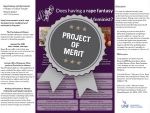 Rape Fantasy and the Feminist: A History of Critical Thought Project of Merit poster