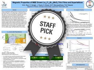 Magnetic Properties of MBE Grown La1/3Y1/3Sr1/3MnO3 Thin Films and Superlattices poster