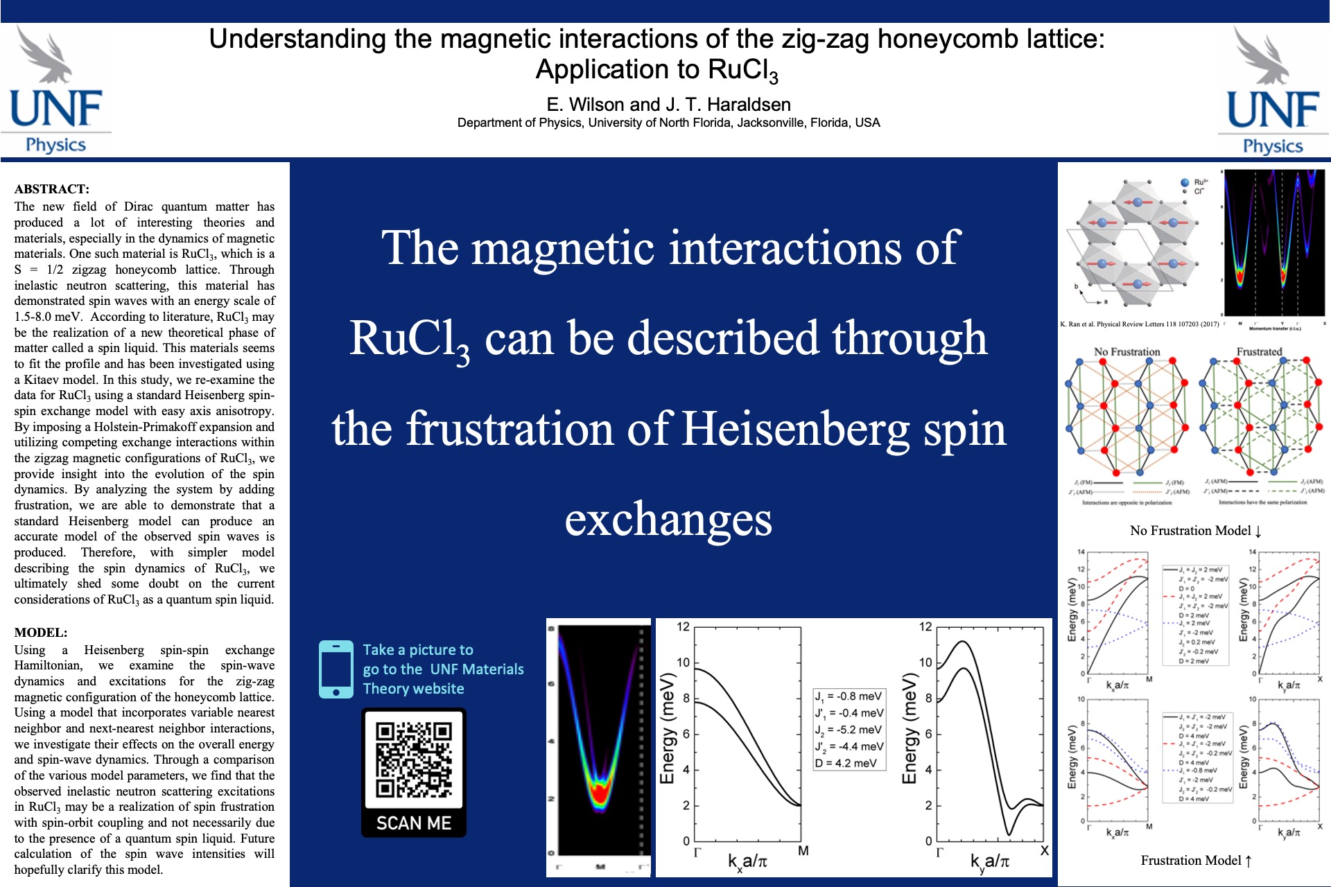 Understanding the magnetic interactions of the zig-zag honeycomb lattice: Application to RuCl3 poster