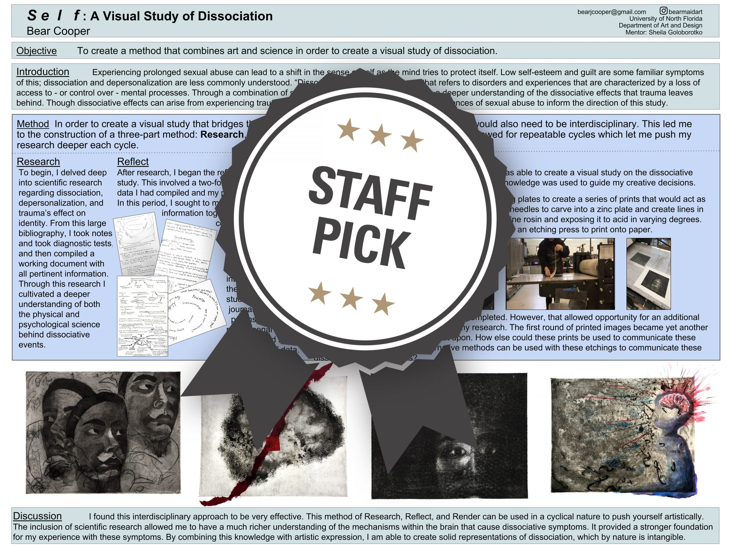 Self: A Visual Study of Dissociation Staff Pick poster