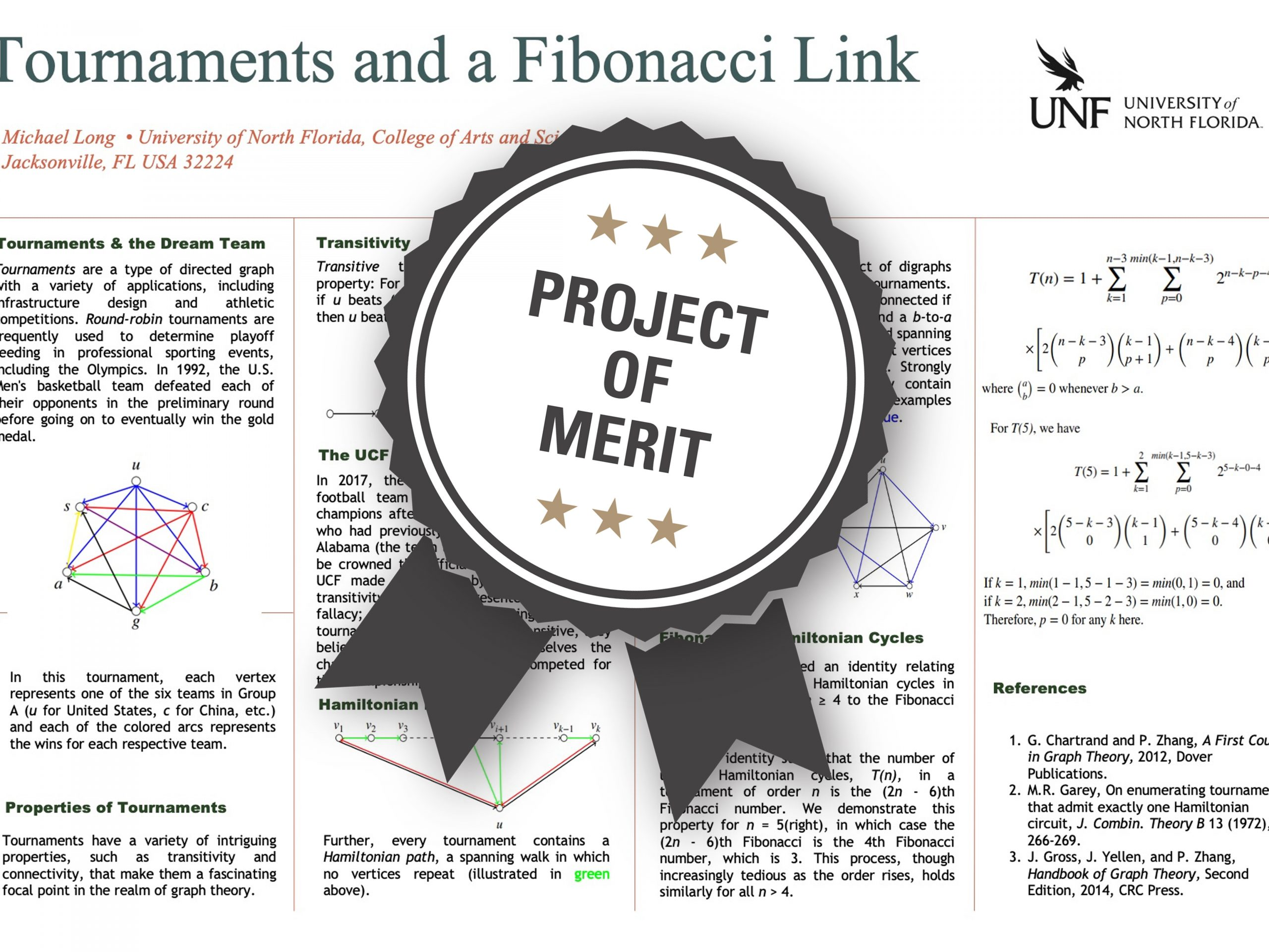Tournaments and a Fibonacci Link Project of Merit poster