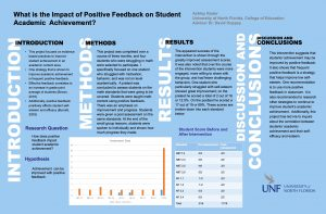 What is the Impact of Positive Feedback on Student Academic Achievement?poster